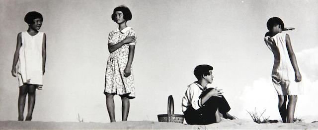 Shoji Ueda (Japanese, 1913-2000); ***line over o Four Girls Posing;