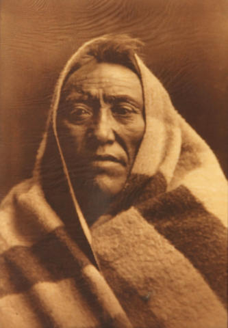 Edward S. Curtis (American, 1868-1952); Middle Calf - Piegan;