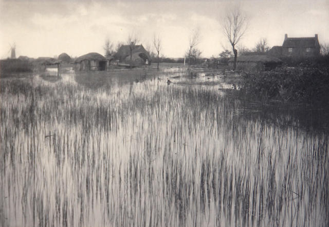 Peter Henry Emerson (British, 1856-1936); A Rushy Shore, Pl. XXXV, from Life and Landscape on the Norfolk Broads;