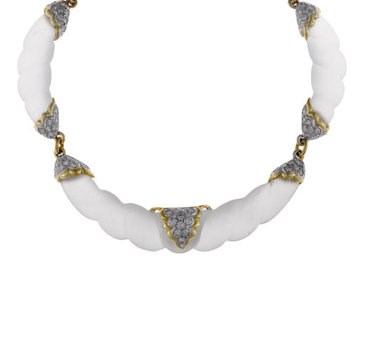 A rock crystal and diamond necklace, La Triomphe