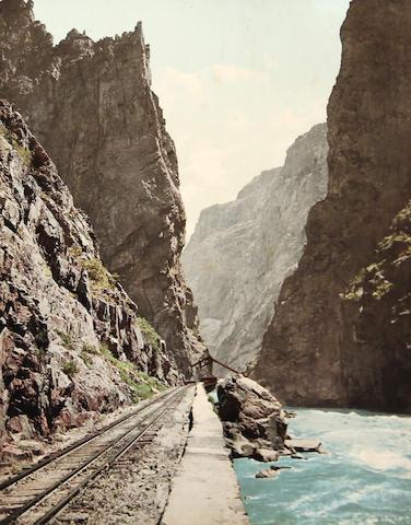 William Henry Jackson (American, 1843-1942); Royal Gorge Colorado on the Denver & Rio Grande Railroad;