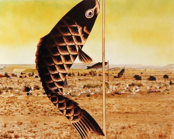 Patrick Nagatani (American, born 1945); Japanese Children's Day Carp Banners, Paguate Village, Jackpile Mine Uranium Tailings, Laguna Pueblo Reservation, New Mexico;
