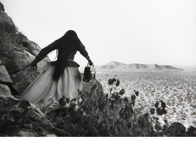 Graciela Iturbide (Mexican, born 1942); Mujer ángel, Desierto de Sonora, México (Angel Woman, Sonora Desert, Mexico);