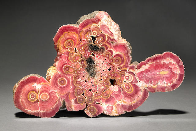 Rhodochrosite cut & polished slalactite