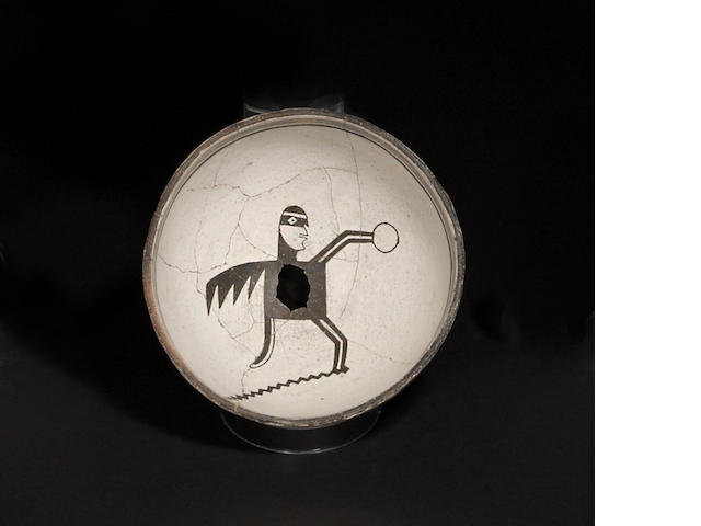 A Mimbres black-on-white pictorial bowl