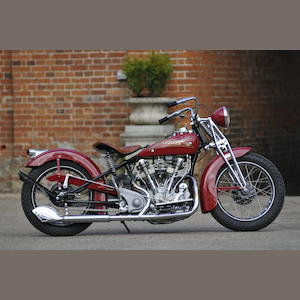 1937 Crocker 61ci 'Hemi-Head' V-Twin Engine no. 37-61-25