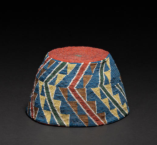 A Modoc beaded hat