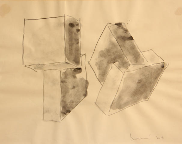 Manuel Neri (American, born 1930) Geometric Sculpture Study No. 4, 1968 10 3/4 x 13 3/4in