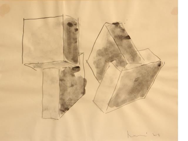 Manuel Neri (American, born 1930) Geometric Sculpture Study No. 4, 1968 10 3/4 x 13 3/4in