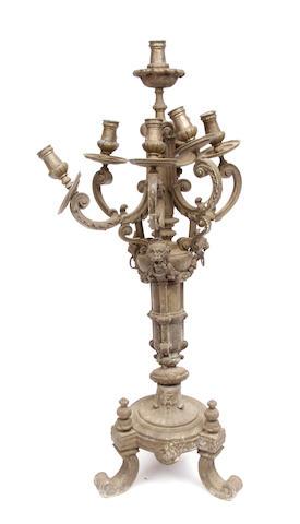 A Napoleon III bronze candelabrum
