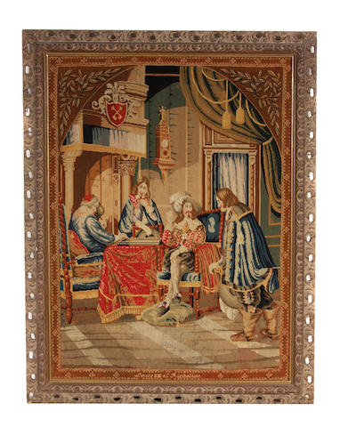 A Continental needlework panel