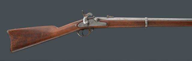 A U.S. Model 1861 Springfield percussion rifle-musket