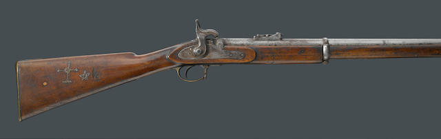 An Enfield Pattern 1853 percussion rifle