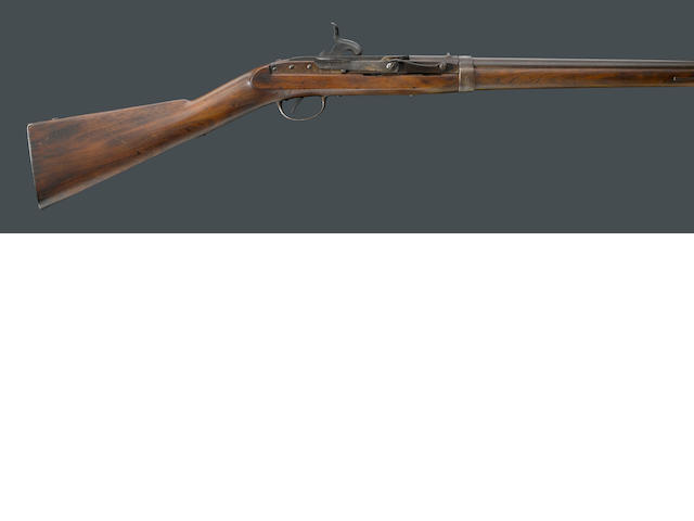 A U.S. Model 1843 Hall-North side-lever breechloading percussion carbine
