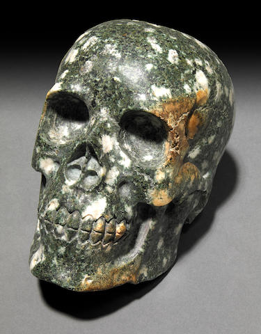 Stone Henge Presel; Blue Stone Skull, Spotted dolerite
