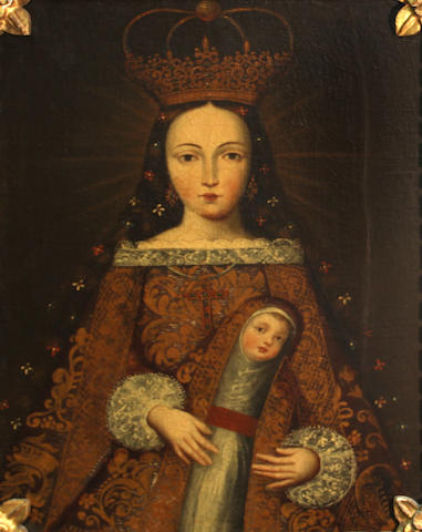 A painting of the Madonna and child
