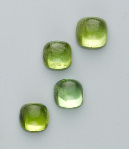 Group of Four Peridot Cabochons
