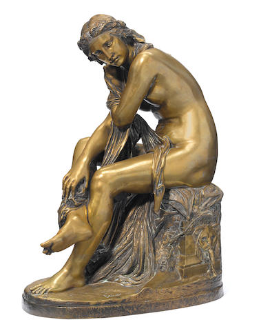 A French gilt bronze figure <BR />after Calet <BR />late 19th century