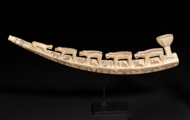 An Eskimo ivory pipe