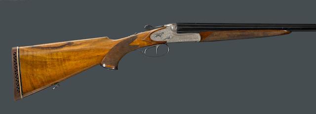 A 20 gauge Austrian guild sideplated ejector shotgun