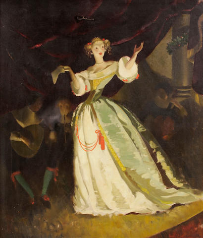 Doris Zinkeisen, Portrait of a Singer (damage)