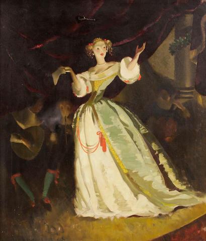 Doris Clare Zinkeisen (British, 1898-1991) The concert 30 x 25in