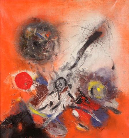 Edmondo Bacci (Italian, 1913-1978) Avvenimento No. 275 27 1/2 x 27 1/2in