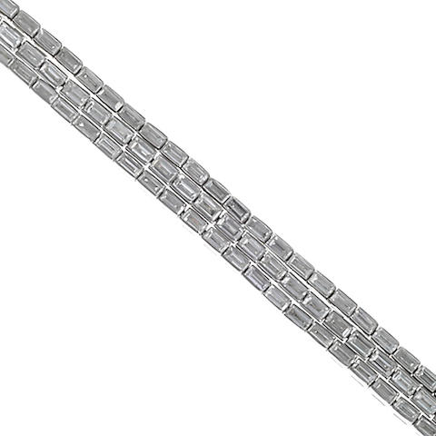 A diamond triple-row bracelet