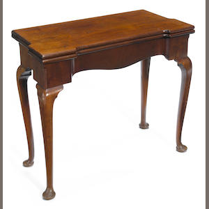 A George II mahogany card table mid 18th century