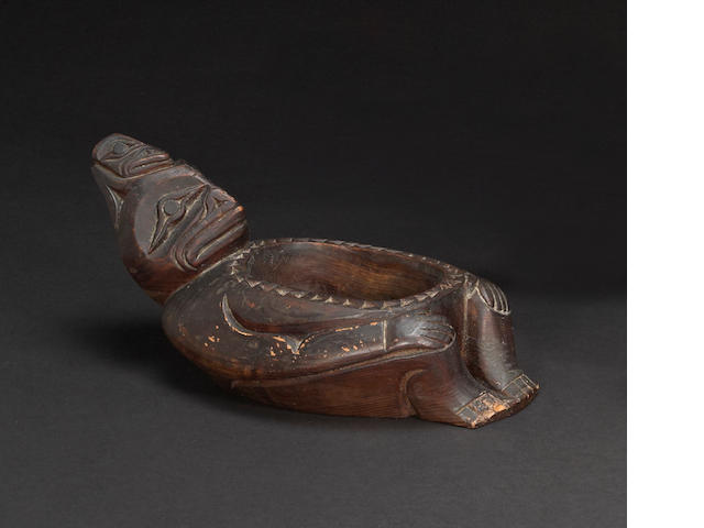 A Northwest Coast figural bowl
