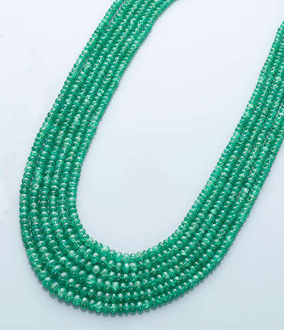 Tsavorite Garnet Bib Necklace