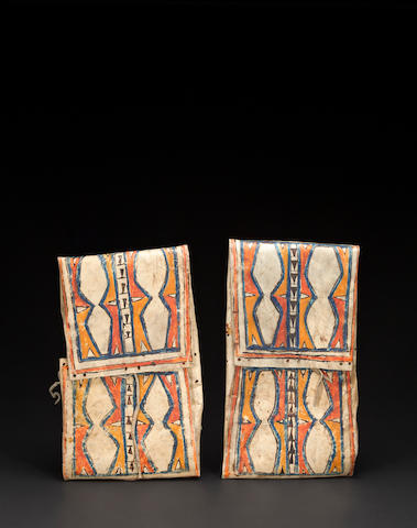 A pair of Blackfoot parfleche envelopes