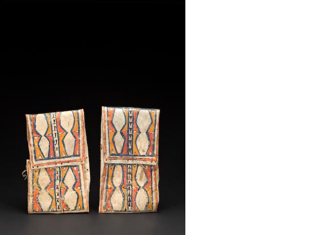 A pair of Blackfoot parfleche envelopes