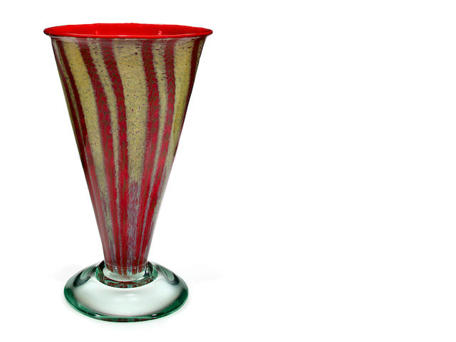 An Arthur Nash internally-decorated glass vase 1928-1931