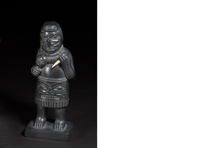 A Haida argillite figure