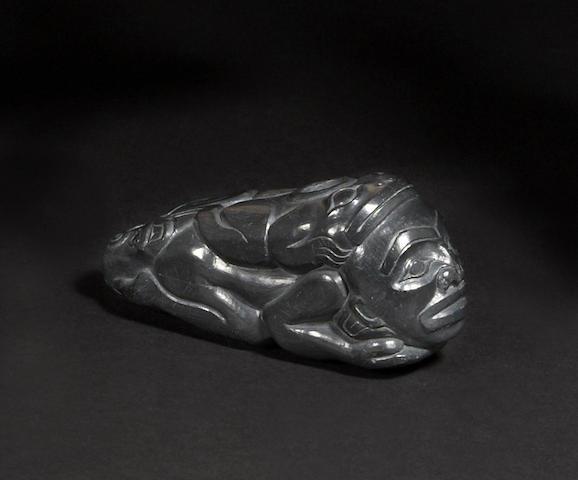 A Haida argillite pipe