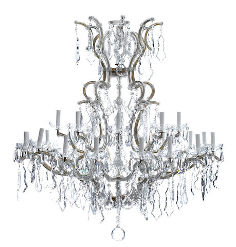 A Louis XV style twenty-five light chandelier