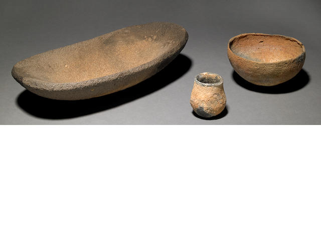 A Group of 3 Bowls - Grinding, Eating, Drinking