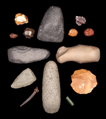 A Group of Points, Celts, Scrapers, Hand Axes, etc.