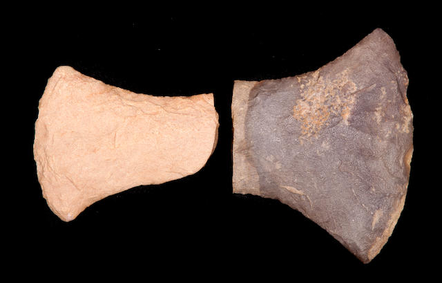 Two Axe Heads