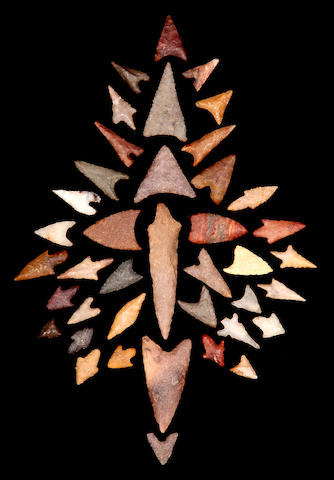 Collection of Forty Neolithic Projectile Points