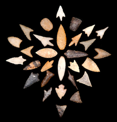 Collection of 29 Neolithic Projectile Points