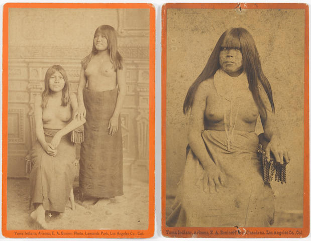 E.A. Bonine, two boudoir cards