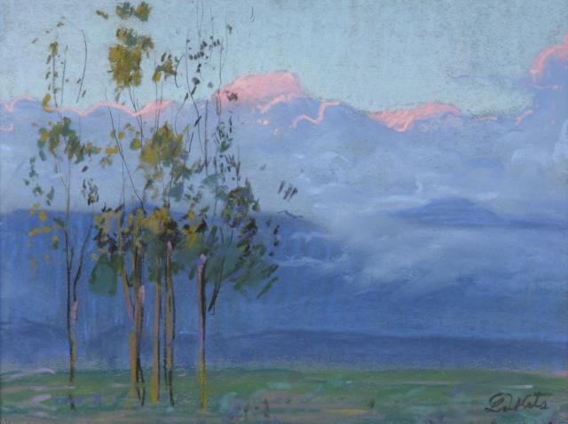 Theodore N. Lukits (American, 1897-1992) Sunlit clouds 9 1/2 x 13in