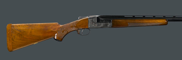 A 12 gauge Ithaca Grade 4E Knick single barrel trap shotgun