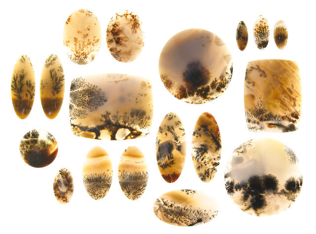 Collection of Dendritic Agate Cabochons