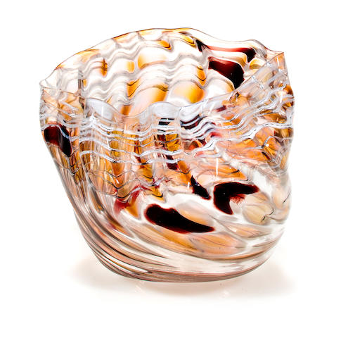 A Dale Chihuly Blown Glass OSU Seaform, 1982,