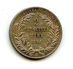 German New Guinea, 2 Mark, 1894  KM#6