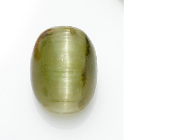 Large Cat's Eye Green Tourmaline