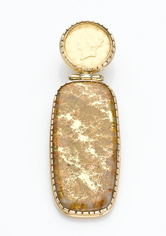 Gold-in-Quartz Pendant